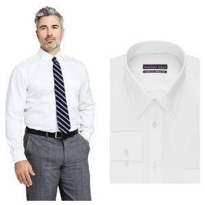 Geoffrey Beene White Button Down Shirt sz 17.5
